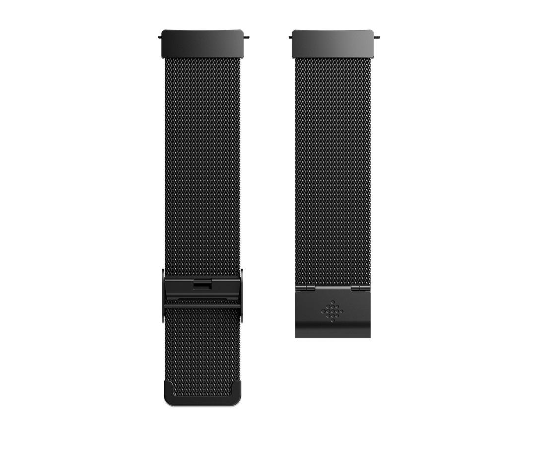 Fitbit Versa řemínek Metal Mesh Black Stainless