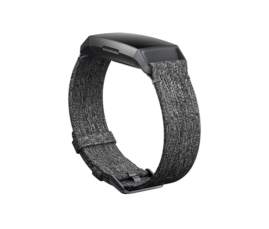 Fitbit Charge 3 sportovní řemínek Woven Charcoal Large