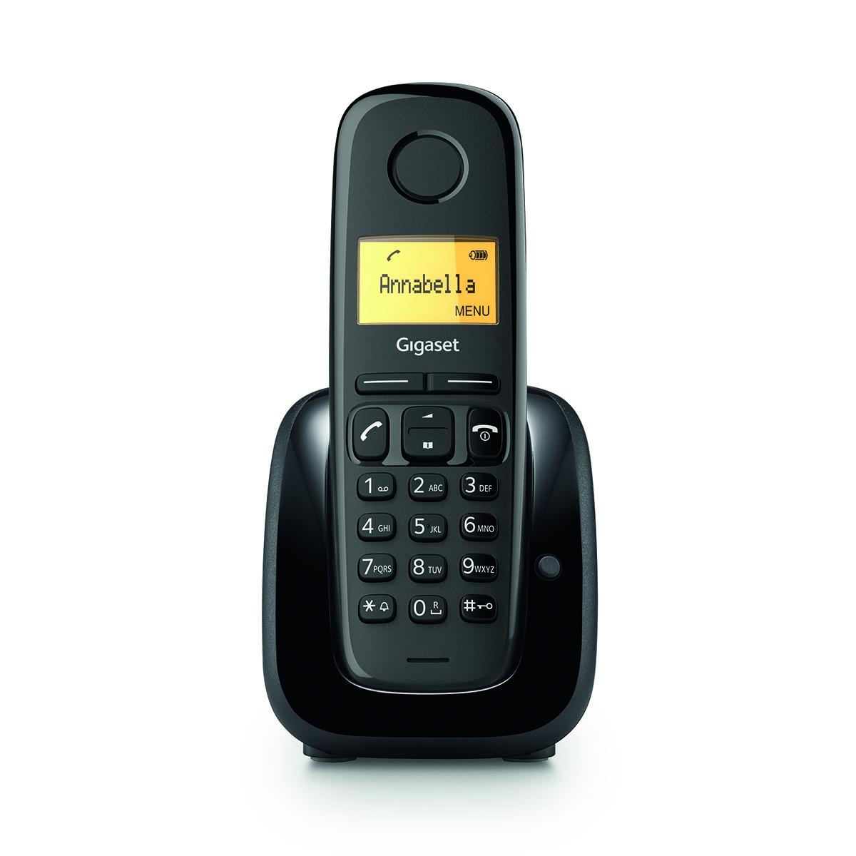 Gigaset DECT A180 Black - 4250366863238
