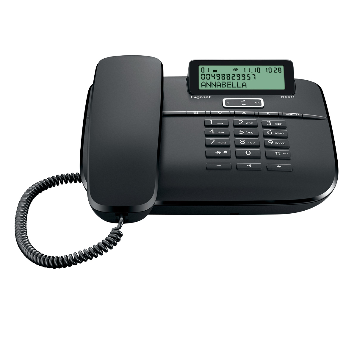 Gigaset DECT DA611 Black - 4250366858654