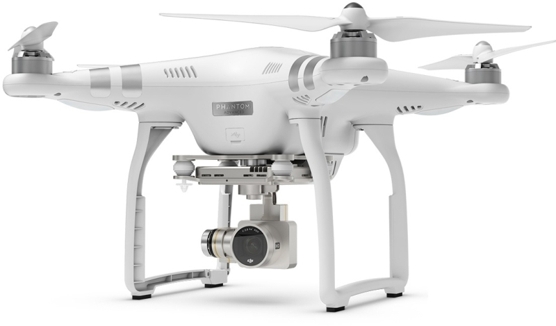DJI kvadrokoptéra - dron, Phantom 3 Advanced, Ultra HD 2,7 kamera