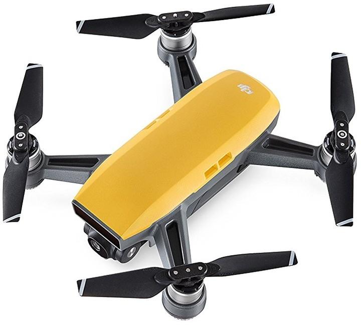 DJI kvadrokoptéra - dron, Spark, Full HD kamera, žlutý