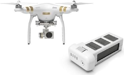 DJI kvadrokoptéra - dron, Phantom 3 Professional, 4K Ultra HD kamera + baterie zdarma