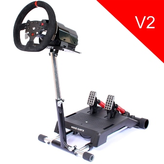 Wheel Stand Pro DELUXE V2 , stojan na volant a pedály pro MadCatz Pro Racing Force Feedback Wheel