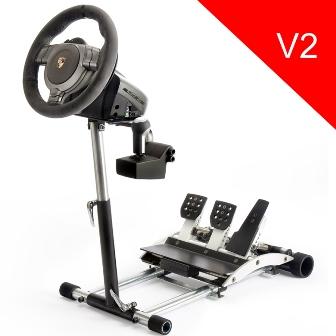 Wheel Stand Pro DELUXE V2, stojan na volant a pedály pro Porsche GT2 /CSR /CSP wheels černý