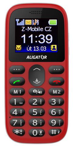 ALIGATOR A510 Senior červený + stol.nab.
