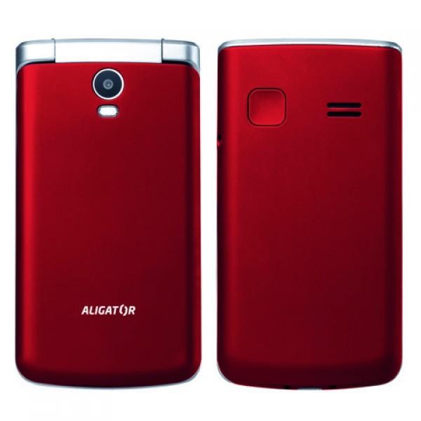 ALIGATOR V710 Senior červeno-stříbrný+st.nab. - AV710RS