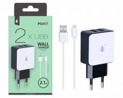 Aligator nabíječka PLUS P5417, USB-C kabel, 2xUSB výstup, bílá