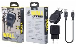 Aligator nabíječka s USB-C kabelem, 2.1A černá