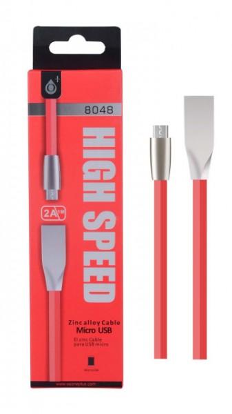 ALIGATOR Datový a nabíjecí kabel PLUS, MicroUSB, (N8048), červený