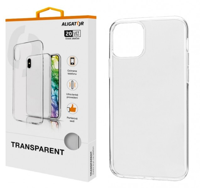 ALIGATOR Pouzdro Transparent Apple iPhone 11 Pro MAX