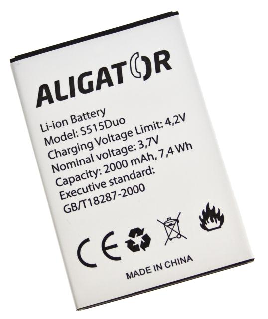 Aligator baterie S515 Duo, Li-Ion 2000 mAh bulk