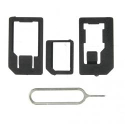 ALIGATOR Adaptér pro nano a microSIM karty + jehla