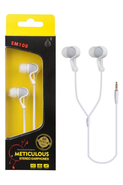 Sluchátka stereo PLUS EM108 bílá