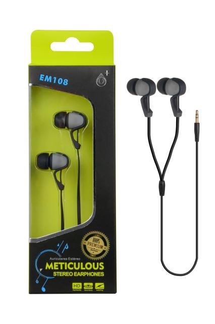 Sluchátka stereo PLUS EM108 šedá