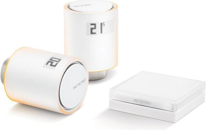 Netatmo Radiator Valves starter pack - Sada 2x termostatická bezdrátová hlavice+Relé+přislušenství