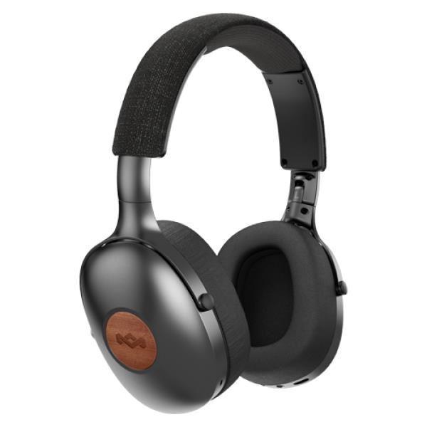 MARLEY Positive Vibration XL Bluetooth® 5.0- Signature Black, sluchátka přes hlavu s ovladačem a mic