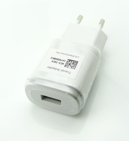 LG USB Cestovní Dobíječ MCS-04ER  White (Bulk)