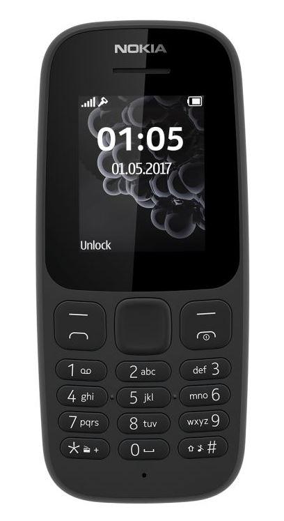 Nokia 105 Dual Sim 2017 Black (CZ Distribuce)