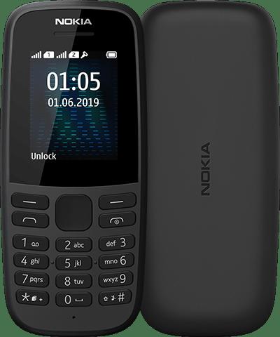 Nokia 105 Dual Sim 2019 Black - 16KIGB01A04