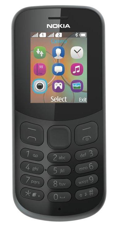 Nokia 130 Single Sim 2017 Black (CZ Distribuce)