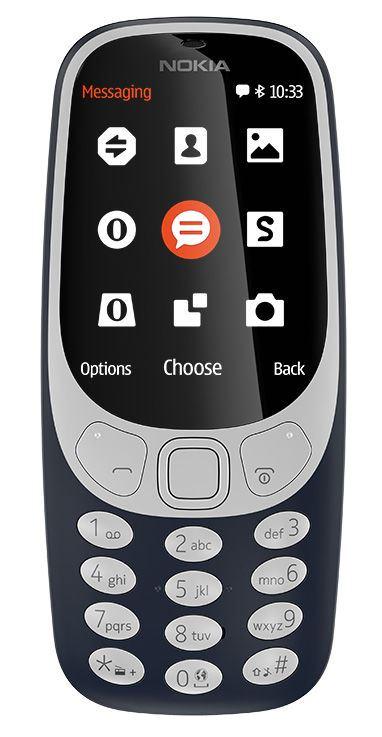 Nokia 3310 Single SIM 2017 Blue (CZ Distribuce)