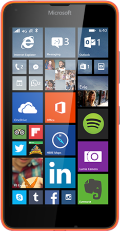 Microsoft Lumia 640 LTE, oranžová