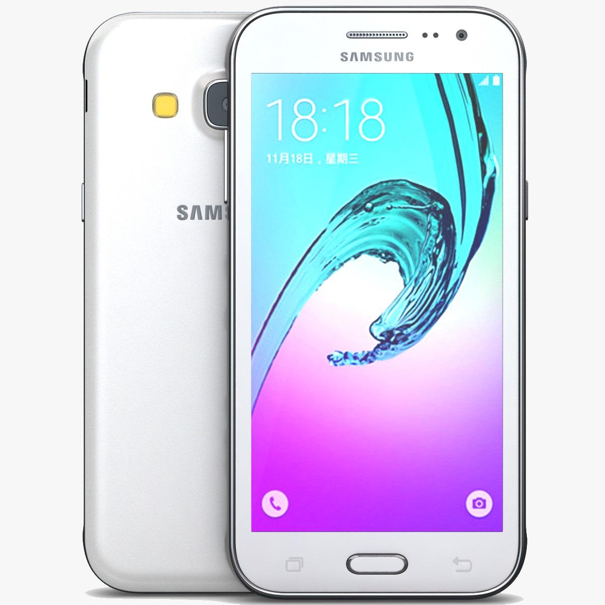 Samsung Galaxy J3, White, Dual Sim