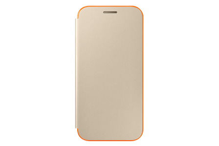 Samsung Flipové neonové pouzdro pro A3 2017 Gold