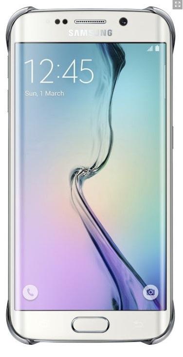 Samsung ochranný kryt EF-QG925B pro Samsung Galaxy S6 Edge (SM-G925F), Stříbrná