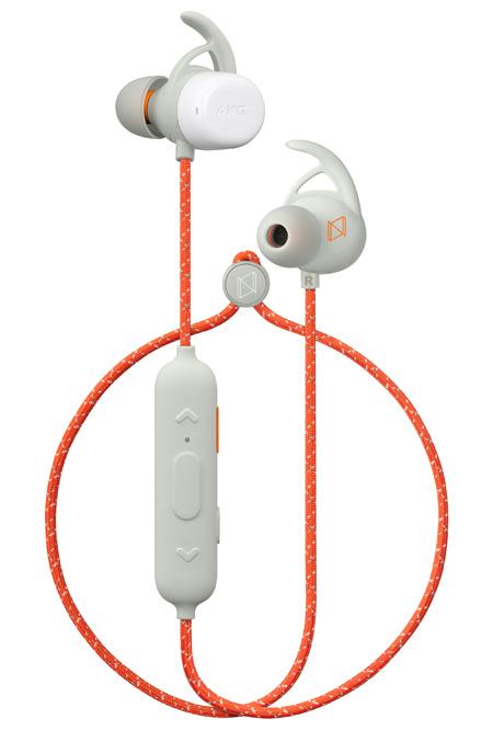 AKG N200A Bezdrátové sluchátka, oranžové