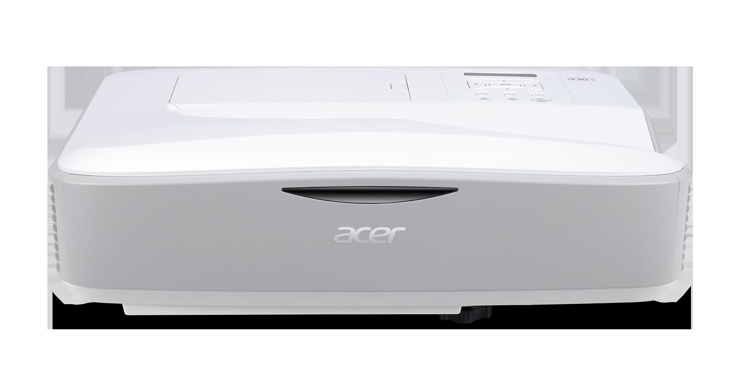 Acer DLP U5330W (UltraShortThrow) - 3300Lm, WXGA, 18000:1, HDMI, VGA, USB, repro., bílý