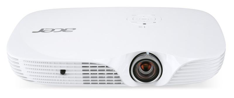Acer DLP K650i - 1400Lm, FullHD, 100000:1, HDMI, VGA, RJ45, USB, SDcard, repro., bílý