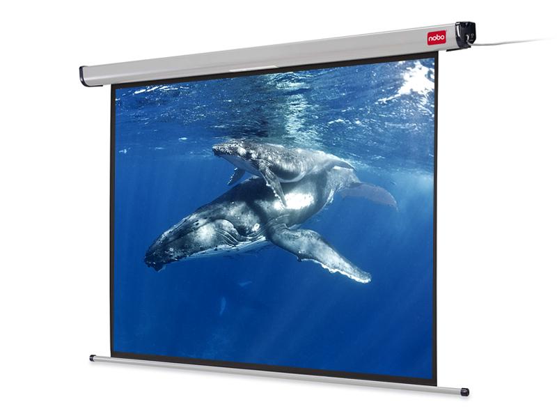 Elektrické projekční plátno NOBO, 192x144cm (4:3)