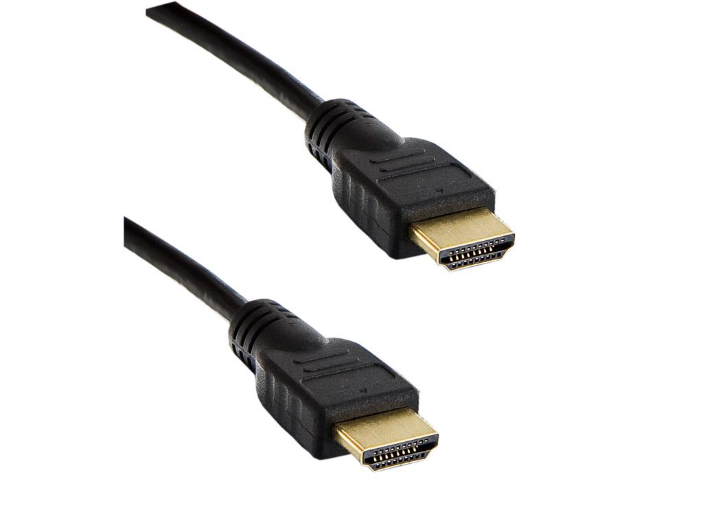 4W Kabel HDMI 1.4 High Speed Ethernet 1.0m Black