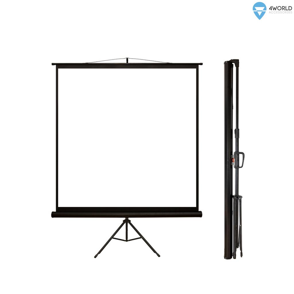 4World Projekční plátno přenosné 178x178 90