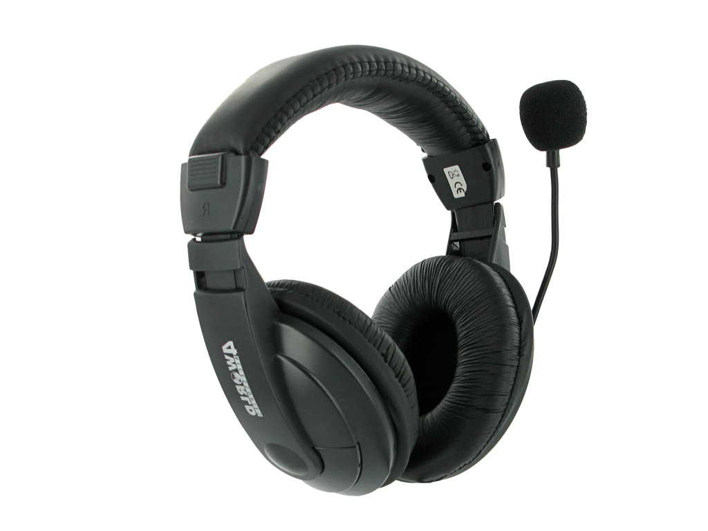 4World Headset AV 3.5mm 3m Black