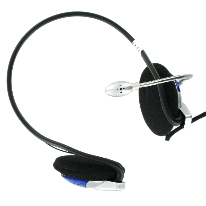 4World Headset 3.5mm 2m Black/Silver