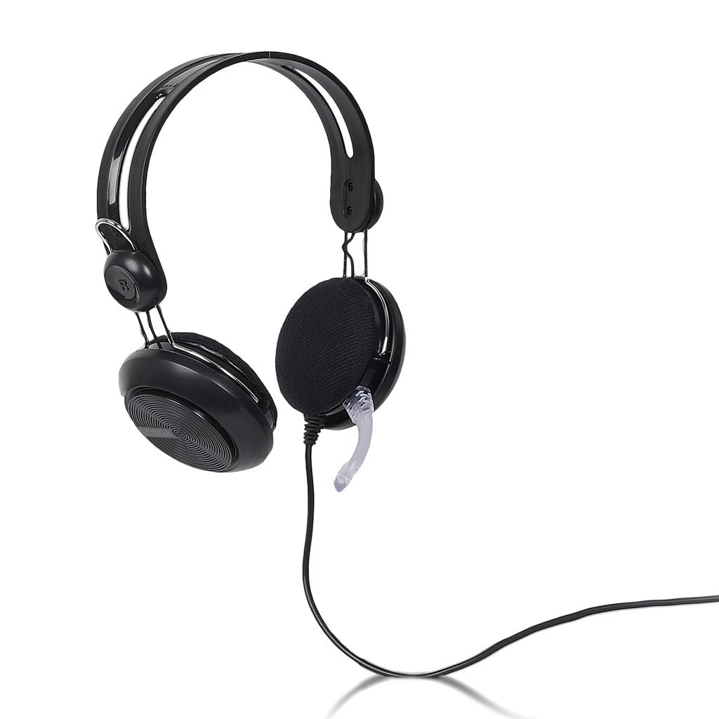 4World Headset 3.5mm 2.2m Black
