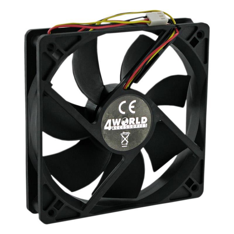 4Wolrld ventilátor ATX 120x120x25mm 3pin