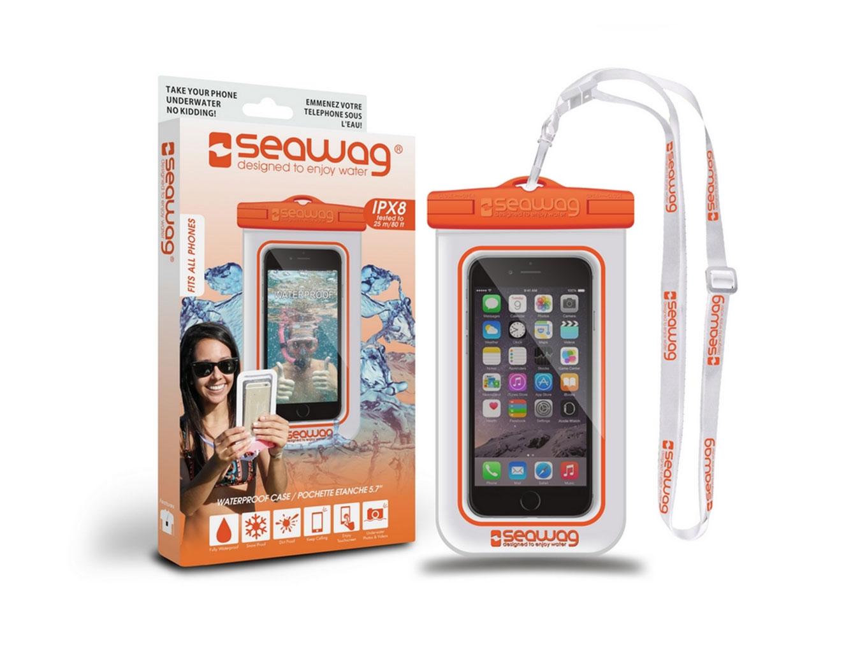 SEAWAG Voděodolné pouzdro pro telefon Bílá/Oranžová