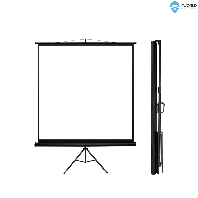 4World Projekční plátno přenosné 200x200 112'' 1:1 - 10607