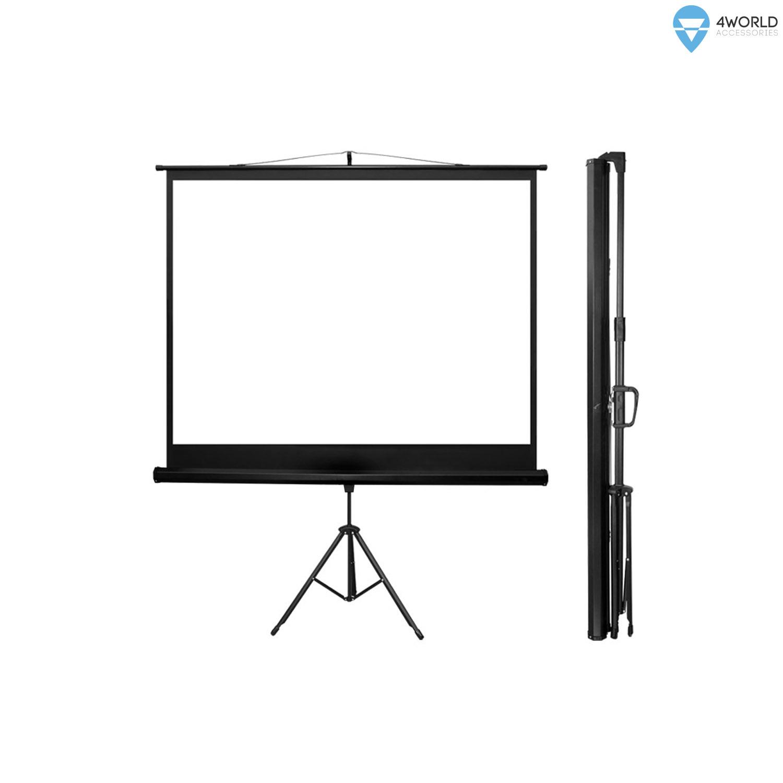 4World Projekční plátno přenosné automatické 122x92 60'' 4:3 - 10633