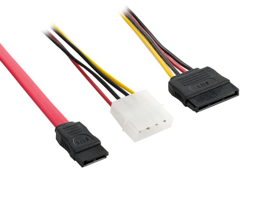 4Wolrd Kabel SATA 50cm + Napájecí SATA/Molex 15cm