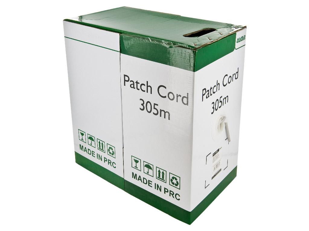 4World Patch kabel Cat5e UTP 305m linka Gray