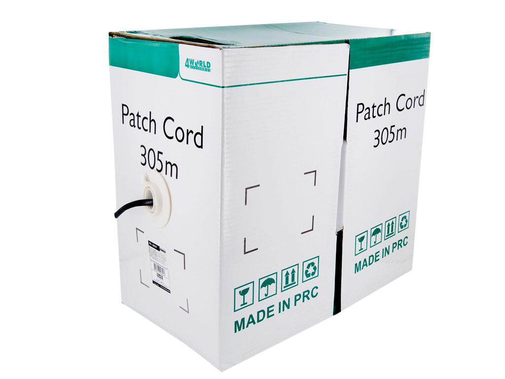 4World Patch kabel Cat5e UTP 305m drát Black