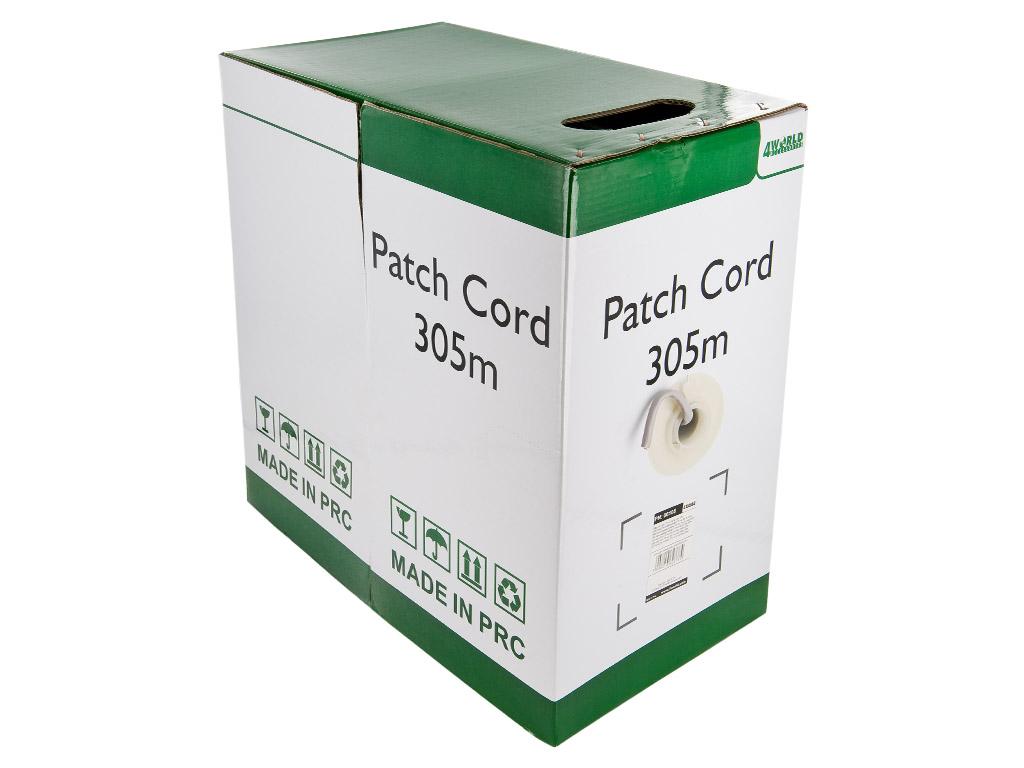 4World Patch kabel Cat5e FTP 305m drát měď Gray