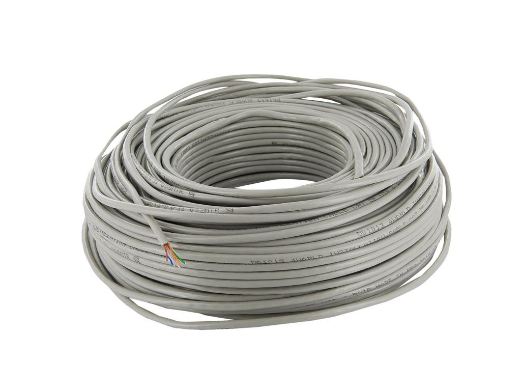 4World Patch kabel Cat5e UTP 100m měď Gray