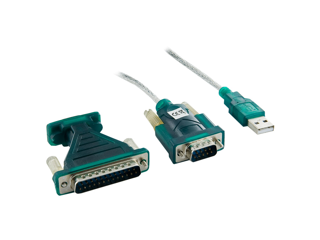 4World Adaptér USB na Serial port DB9 a DB25