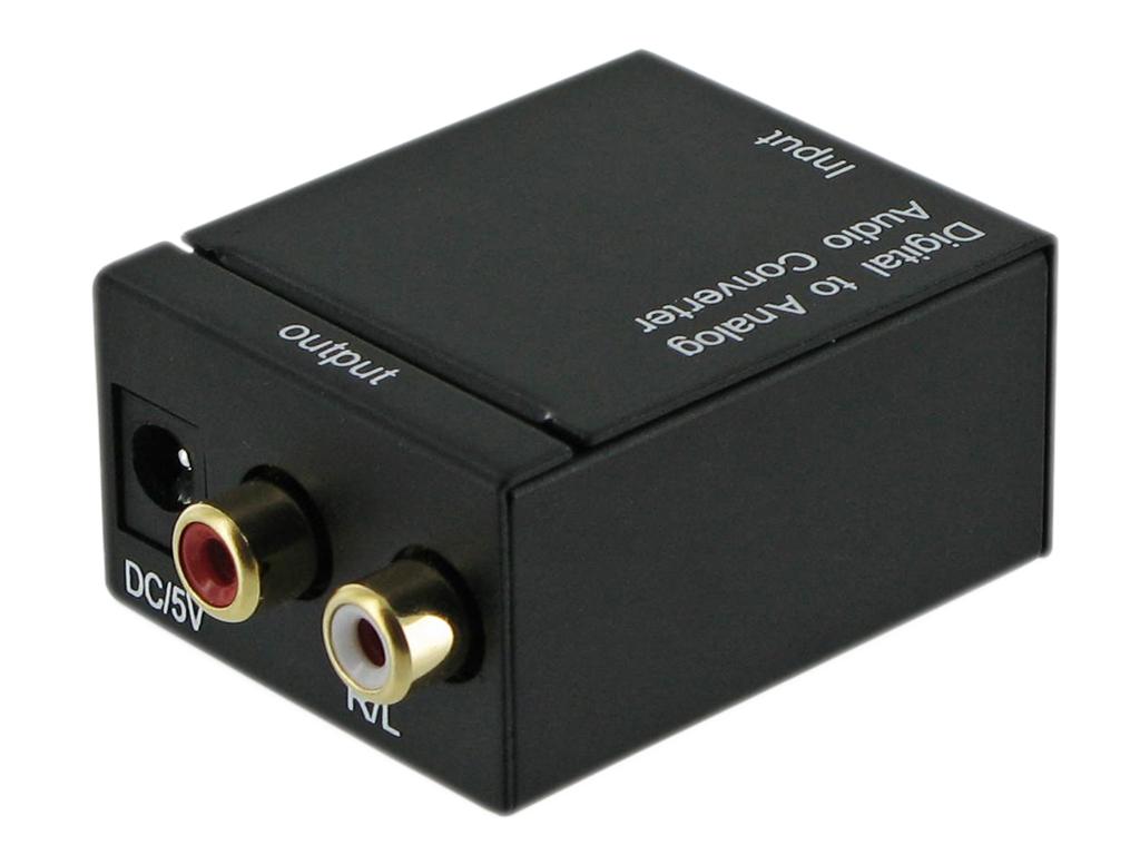 4World Audio převodník Digital/Toslink-R/L Audio